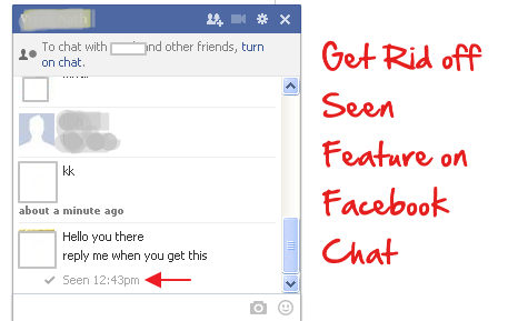 How to Disable or Turn off Seen feature in Facebook Chat