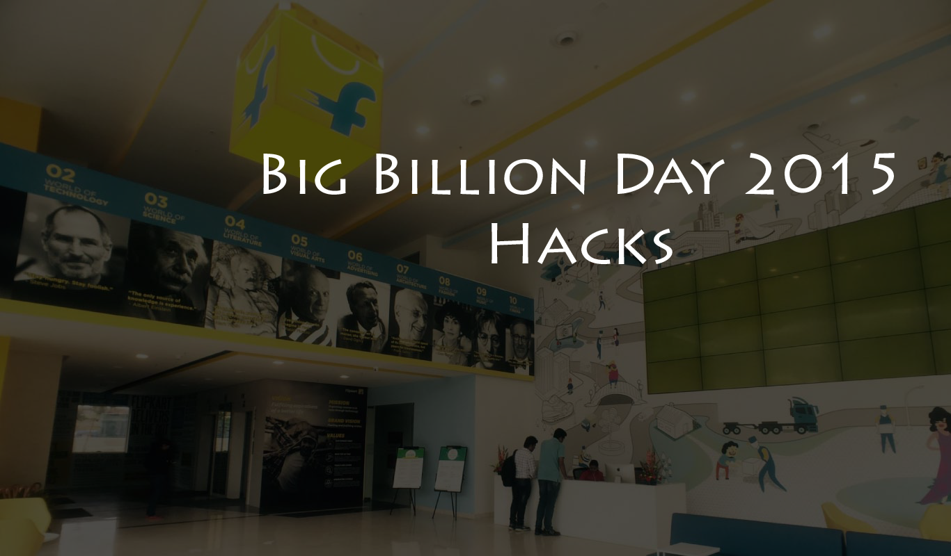 How can You make the most of the Flipkart Big Billion Day 2015